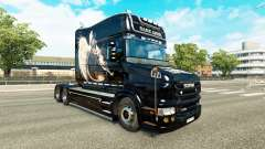 Anjo negro de pele para a Scania T caminhão para Euro Truck Simulator 2