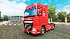 O FC Bayern de Munique para a pele do caminhão DAF para Euro Truck Simulator 2