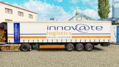 Pele Inovar Logística em uma cortina semi-reboque para Euro Truck Simulator 2
