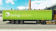 Pele de Trazer de Logística em uma cortina semi-reboque para Euro Truck Simulator 2