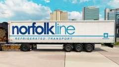 Pele Norfolkline cortina semi-reboque para Euro Truck Simulator 2