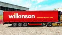 Pele Wilkinson em uma cortina semi-reboque para Euro Truck Simulator 2