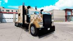 Camo pele para o caminhão Peterbilt 389 para American Truck Simulator
