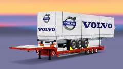 Baixa varrer com uma carga de cortina semi-reboque para Euro Truck Simulator 2