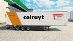 Semi-reboque frigorífico Chereau Colruyt para Euro Truck Simulator 2
