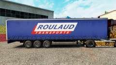 Pele Roulaud Transportes em uma cortina semi-reboque para Euro Truck Simulator 2