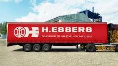 H. Essers pele para cortina semi-reboque para Euro Truck Simulator 2