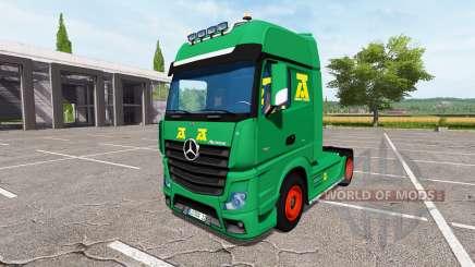 Mercedes-Benz Actros MP4 update para Farming Simulator 2017