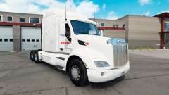 Estafeta de pele para o caminhão Peterbilt 579 para American Truck Simulator