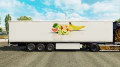 A pele da Fruta no refrigerados semi-reboque para Euro Truck Simulator 2