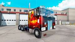 Dragão de Fogo de pele para o caminhão Peterbilt 352 para American Truck Simulator