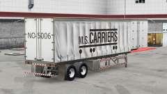 Pele M. S. Transportadoras em uma cortina semi-reboque para American Truck Simulator