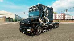 Escuro Reaper pele para caminhão Scania T para Euro Truck Simulator 2