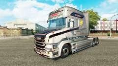 O Vabis V8 Metalizado pele para caminhão Scania T para Euro Truck Simulator 2