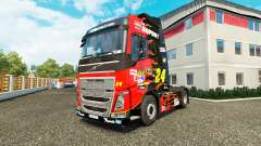 A pele da NASCAR para o caminhão trator Volvo para Euro Truck Simulator 2
