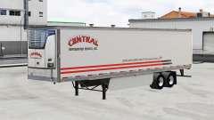 Pele Central v1.5 em refrigerada com semi-reboque para American Truck Simulator