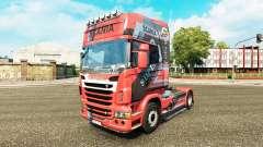 Projeto da pele sobre o N7 trator Scania para Euro Truck Simulator 2