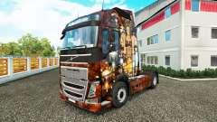 Sexy Steampunk pele para a Volvo caminhões para Euro Truck Simulator 2