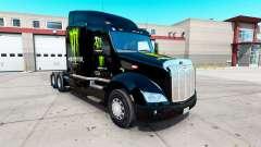 Monster Energy pele para o caminhão Peterbilt 579 para American Truck Simulator