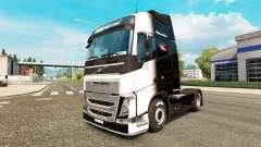 O Preto-e-Branco de pele para a Volvo caminhões para Euro Truck Simulator 2