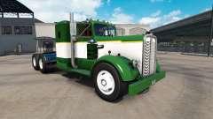Pele Verde-E-Branco caminhão trator Kenworth 521