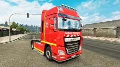 Pele Sapeur Pompier no tractor DAF para Euro Truck Simulator 2