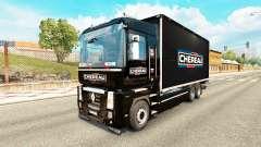 Pele Chereau para trator Renault Magnum tandem para Euro Truck Simulator 2