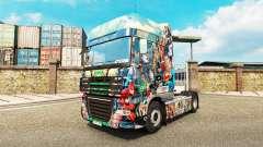 DC Comics para a pele do caminhão DAF para Euro Truck Simulator 2