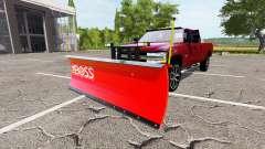 Chevrolet Silverado 2500 HD 2002 plow v2.0 para Farming Simulator 2017