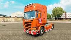 LUKOIL pele para o Scania truck