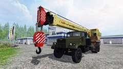 KrAZ 257 caminhão guindaste