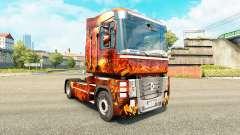 Pele Fantasia Guerra para trator Renault para Euro Truck Simulator 2