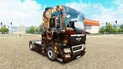 A pele do Tigre sobre o caminhão do HOMEM