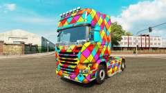 Arlequin pele para caminhão Scania