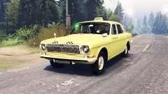 GAZ-24 Volga Táxi v2.0 para Spin Tires