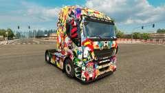 Pele Universo Marvel no caminhão Iveco