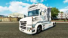 Dragão branco de pele para caminhão Scania T para Euro Truck Simulator 2