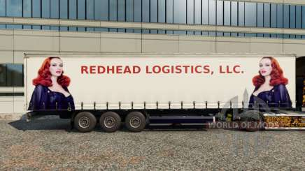 Peles Ruiva Logística no trailer para Euro Truck Simulator 2