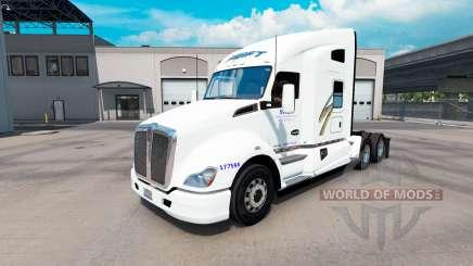 Pele Swift no trator Kenworth T680 para American Truck Simulator