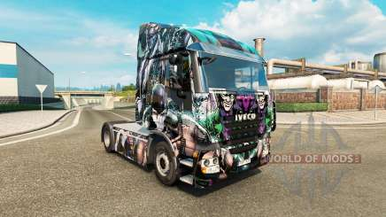 Pele DC Vilões no caminhão Iveco para Euro Truck Simulator 2