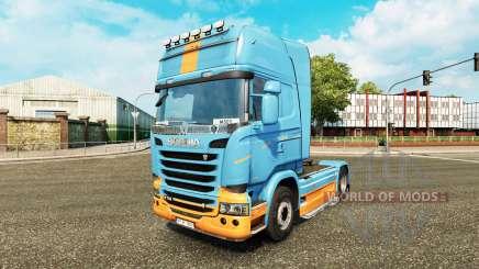 Pele DS3 no tractor Scania para Euro Truck Simulator 2