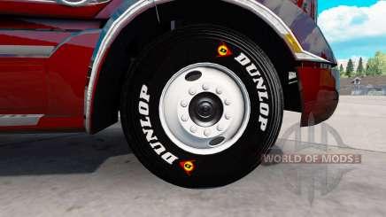 Real pneus para American Truck Simulator
