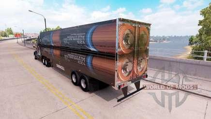Uma coleção de 3D peles no trailer para American Truck Simulator