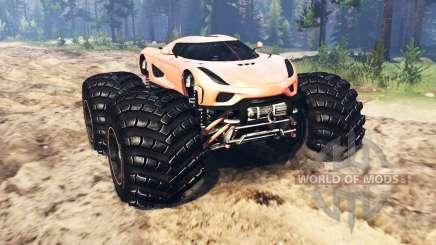 Koenigsegg Regera para Spin Tires