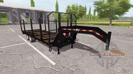 Uma mesa rebocando trailer para Farming Simulator 2017
