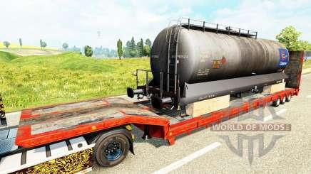 Semi-reboques com zeleznodoroznyj a linha de v1.6 para Euro Truck Simulator 2