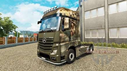 Pele Cruzada para trator Mercedes-Benz para Euro Truck Simulator 2