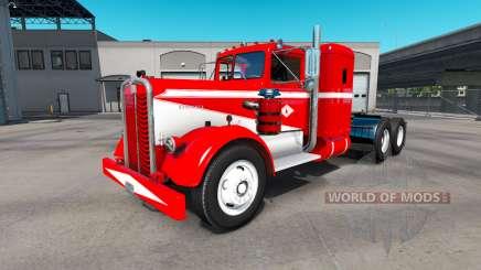 Pele Madeira de Tecnologia no caminhão Kenworth 521 para American Truck Simulator