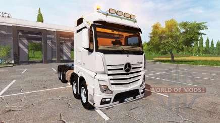 Mercedes-Benz Actros (MP4) 8x8 v1.4 para Farming Simulator 2017