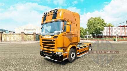 Camaro pele para o Scania truck para Euro Truck Simulator 2